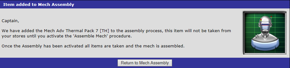 Mech Adv Thermal Pack 7 [TH] added to the assembly process