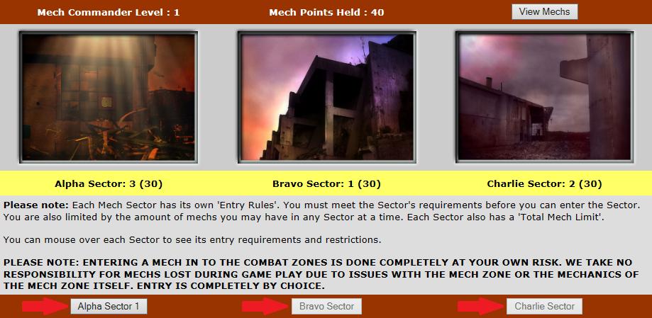 Mech detail screen