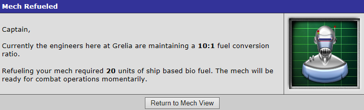 Mech refueled confirmation